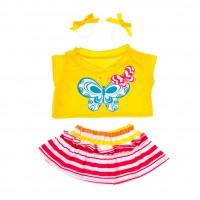 Papillon avec boucles jaunes Vêtements 40 cm