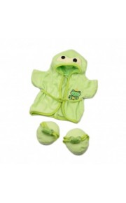 Frog Bathrobe with Slippers Clothing 40 cm